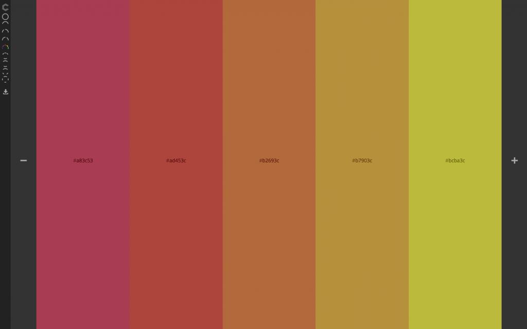 رنگ زرد طراحی سایت