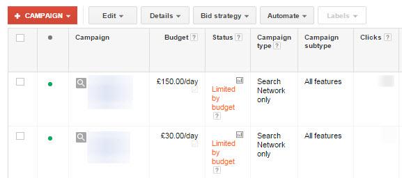 بودجه بندی در گوگل ادوردز